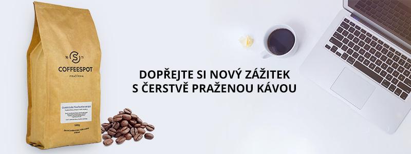 nabídka zrnkové kávy pro firmy